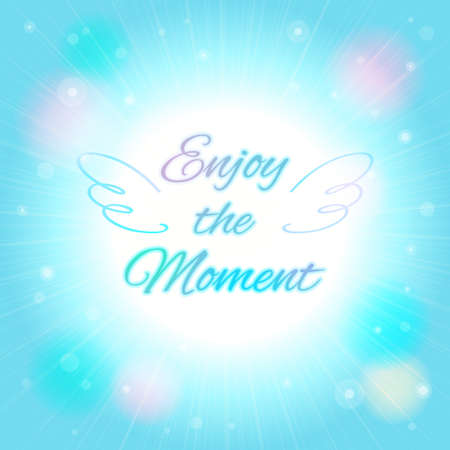 enjoy: Abstract blur bokeh background in vector enjoy the moment
