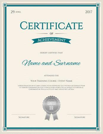 Szablon certyfikatu w wektorze do ukończenia ukończenia szkoły