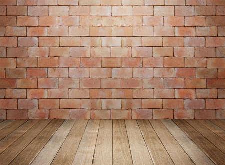brick walls: Wood and brick background interior room