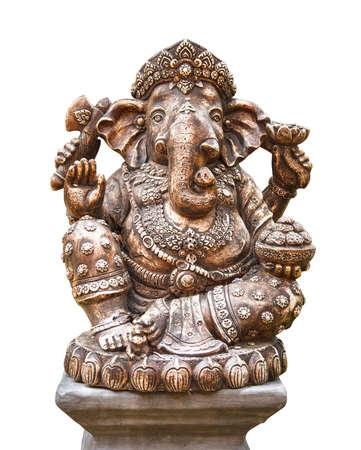 god ganesh: Hindu god Ganesh isolated on white