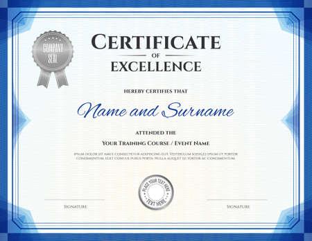 completion: Certificate template for achievement graduation completion
