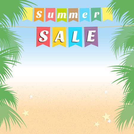 holiday background: Summer holiday sales background banner Illustration