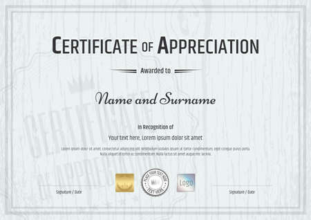 Certificate of participation in sport theme with award wreath certificate of appreciation template with grey wooden background in vector vector yelopaper Gallery