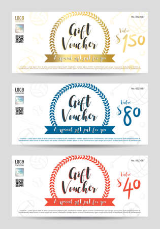 Elegant Gift Voucher Or Gift Card In Red And Blue Tone With Movie