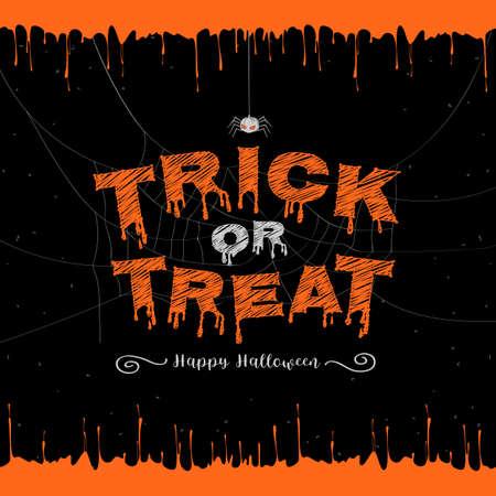 Happy Halloween, trick or treat banner background