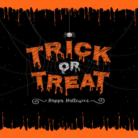 Happy Halloween, trick or treat banner background