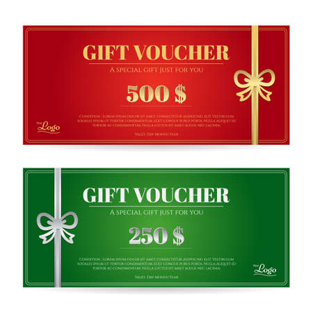 Elegant Christmas Gift Card Or Gift Voucher Template With Shiny