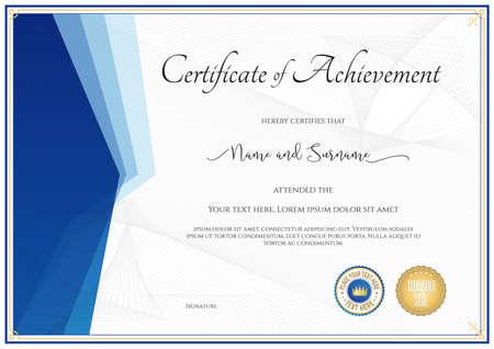 participation: Modern certificate template for achievement, appreciation, participation or completion