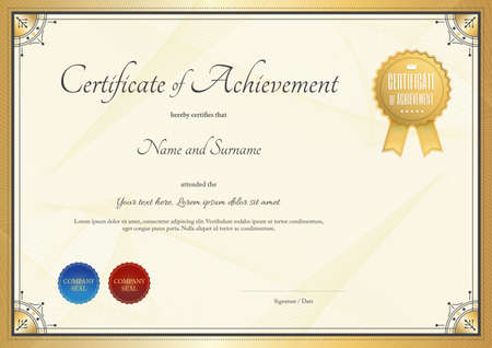 Modern Certificate Template For Achievement, Appreciation ...