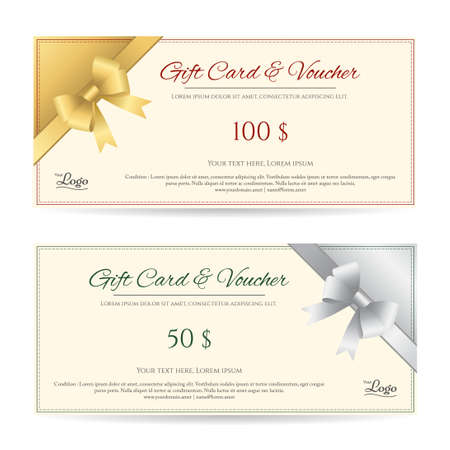 Gift Card Template Images and Pictures Royalty Free Gift Card – Voucher Card Template