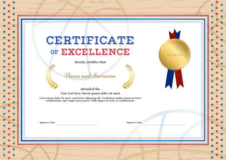 certificate of excellence template in sport theme for football