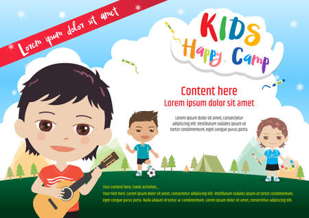 Kids diploma or certificate of awesomeness template with cartoon colorful kids summer camp diploma certificate template in cartoon style with various children activities music yadclub Choice Image