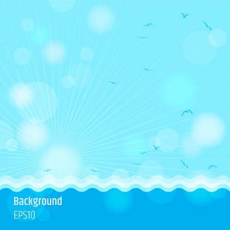 Modern abstract background in summer sea time theme