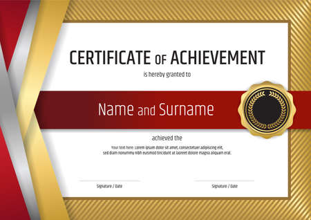 Luxury certificate template with elegant border frame diploma luxury certificate template with elegant golden border frame diploma design for graduation or completion yelopaper Image collections