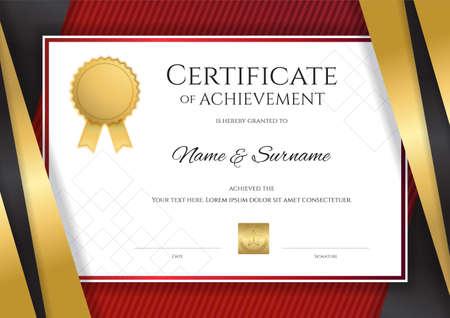 우아한 황금 테두리 프레임 졸업 또는 완료에 대 한 졸업장 디자인 럭셔리 인증서 템플릿