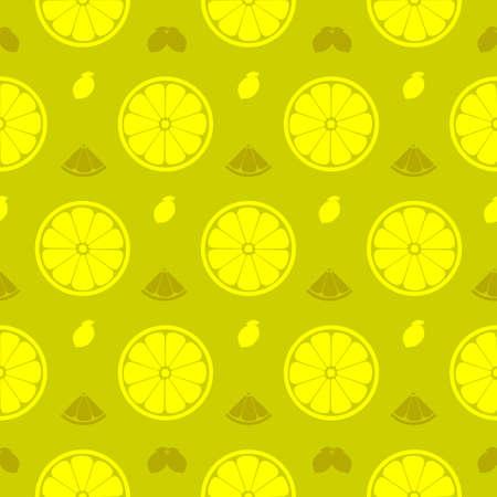 Fresh lemon, orange fruits seamless pattern background vector format