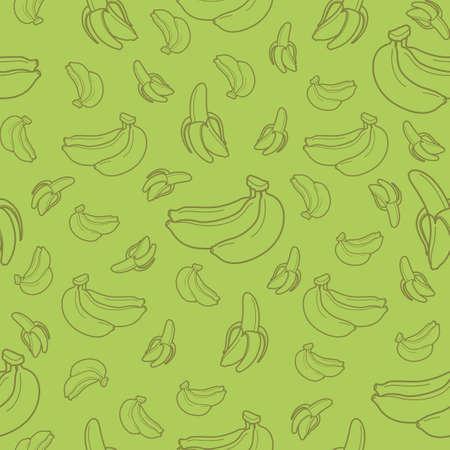 Banana fruit seamless pattern background vector format Illustration