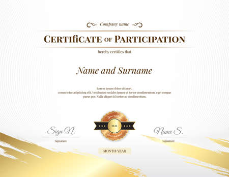 Modèle de certificat sur le thème du sport avec fond de filigrane, conception de diplôme