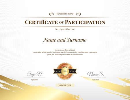 Plantilla de certificado en tema deportivo con fondo de marca de agua, diseño de diploma
