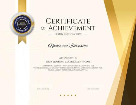Modern certificate template with elegant border frame, Diploma design for graduation or completion