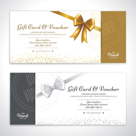 Gift certificate, voucher, gift card or cash coupon template in vector format 向量圖像