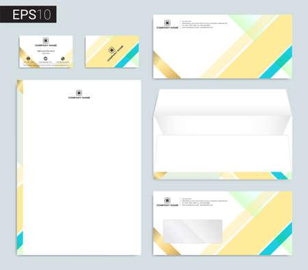 Modern stationery set in vector format 向量圖像