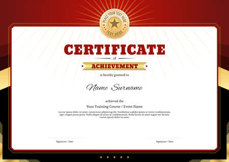 Certificate template border frame, Diploma design for sport event 向量圖像