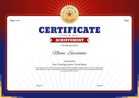 Certificate template border frame, Diploma design for sport event Illusztráció