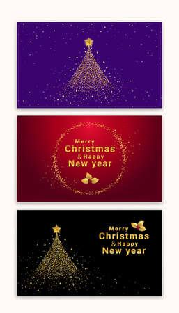 Christmas and new year gift certificate, voucher, gift card or cash coupon template in vector format