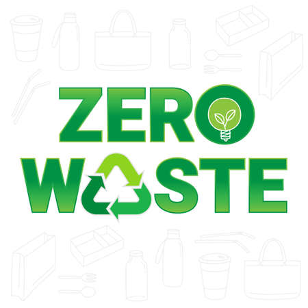 Zero waste sign and symbol, an environmental conservation concept symbol