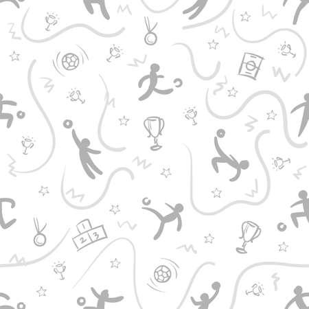 Sport theme seamless pattern background; football;