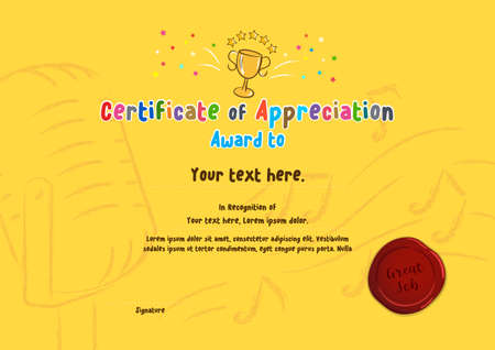 Colorful certificate template for singing or song competition 向量圖像