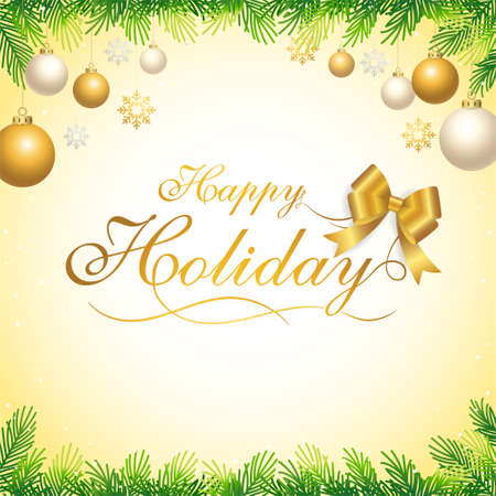 Seasonal greeting banner poster or backdrop template with festive elements border 向量圖像
