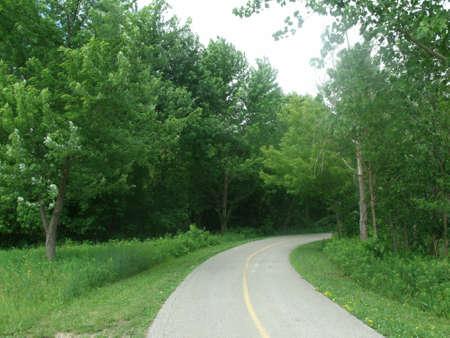 予約領域の自転車道 写真素材
