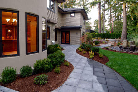Backyard of an American Home Stock Photo