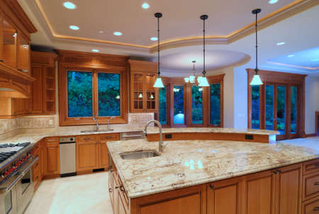 Designer Kitchen Stock Photo