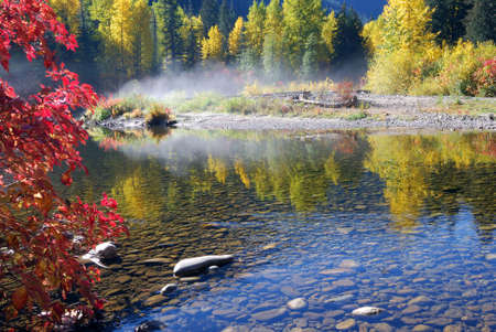 Colorful foliage at Cascade Loop in Washington State in Oct.