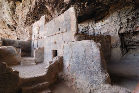 the dwelling: Cliff Dwelling at the Tonoto National Monument Stock Photo