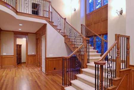 expensive granite: Grand Staircase in a luxury american home