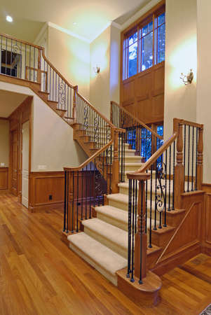 hardwood: Grand Staircase in a luxury american home
