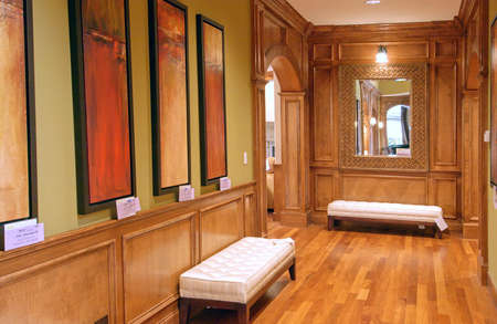 Hallway of a large house Stock Photo