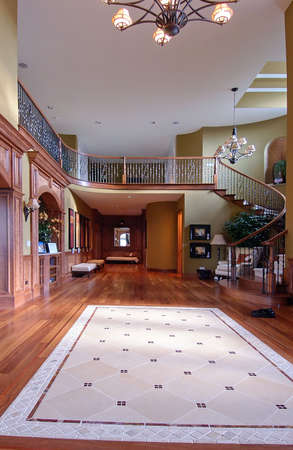 Grand Entrance of a house photo