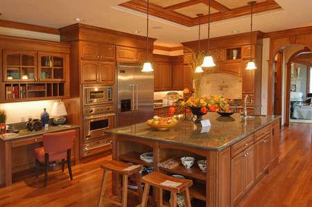 fridge lamp: Large American Kitchen