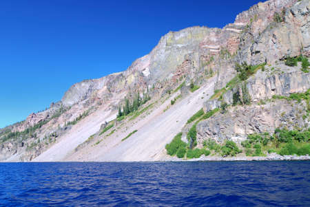Crater Lake National Park in the summer