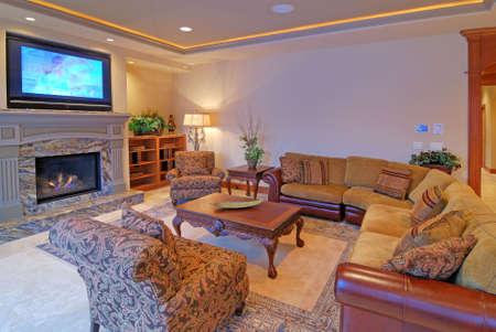 Luxurious Living Room Stock Photo