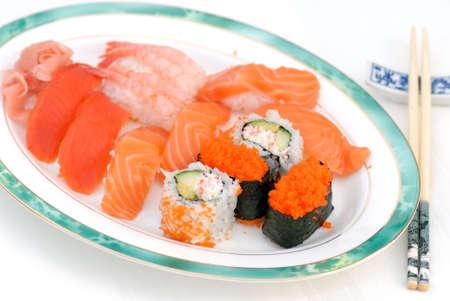 plateful: Plateful of Sushi Stock Photo
