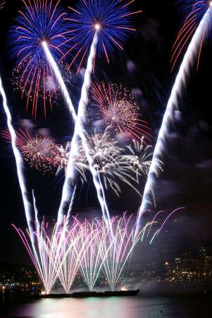 Palm Tree Shaped Fireworks Stock Photo - 2264923