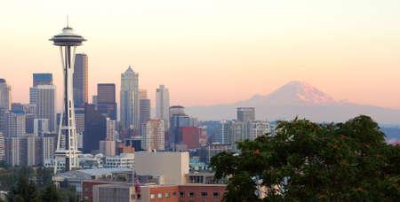 다운타운 시애틀 선셋