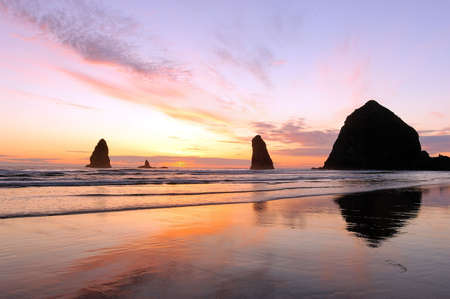 Sunset at Cannon Beach photo