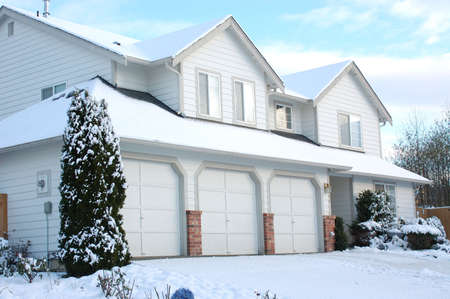 Residencial House in the snow